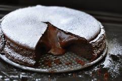 Schokolade Lava Cake Lizenzfreie Stockbilder
