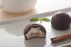 Schokolade Marshmollows stockbilder