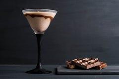 Schokolade Martini lizenzfreie stockfotografie