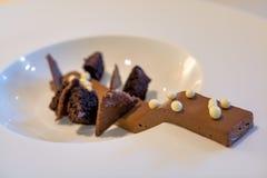Schokolade mit drei Beschaffenheiten Lizenzfreie Stockfotografie