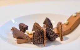 Schokolade mit drei Beschaffenheiten Stockfoto