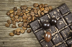Schokolade mit Kaffee stockbild
