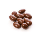 Schokolade mit Mandeln Stockfotografie