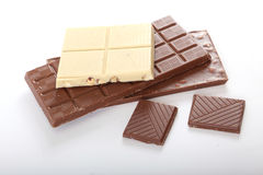 Schokolade mit Nüssen stockbilder