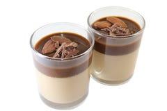 Schokolade Panna Cotta Lizenzfreies Stockbild