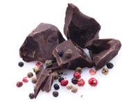 Schokolade, Pfeffer Lizenzfreies Stockfoto
