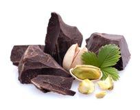 Schokolade, Pistazie Lizenzfreie Stockfotografie