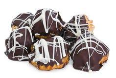 Schokolade Profiteroles Stockbild