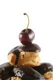 Schokolade Profiteroles 4 Lizenzfreie Stockbilder