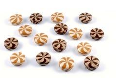 Schokolade-sahnig von den Bonbonzuckersüßigkeiten stockfotos
