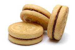 Schokolade Sandwitch Biskuite Stockfotografie