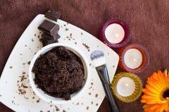 Schokolade scheuern Satz lizenzfreies stockfoto