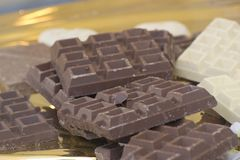 Schokolade, Schokolade, Schokolade! Lizenzfreie Stockfotos