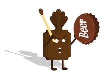Schokolade Shaman mit Flaschenkapsel Lizenzfreies Stockbild