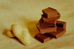 Schokolade trifft Erdnuss Lizenzfreie Stockfotografie