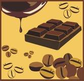 Schokolade u. Kaffee Stockfotos