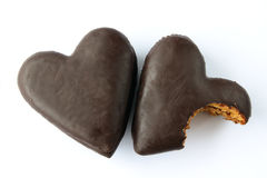 Schokolade umfaßte Lebkucheninnere Lizenzfreie Stockfotografie