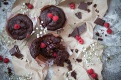 Schokolade und Beere Lizenzfreie Stockfotos