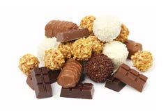 Schokolade und Bonbons Stockbild