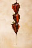 Schokolade und Erdbeere stockbilder