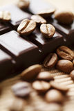 Schokolade und Kaffee stockfoto