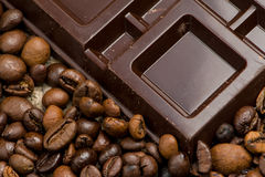 Schokolade und Kaffee Lizenzfreies Stockfoto