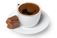 Schokolade und Kaffee Stockbild