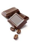 Schokolade und Kaffeebohnen Lizenzfreies Stockbild