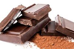 Schokolade und Kakao Stockfotos