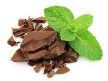 Schokolade und Minze Stockfotografie