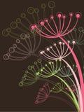 Schokolade und rosafarbener Löwenzahn lizenzfreie abbildung
