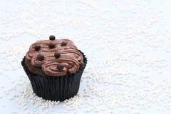 Schokolade und Schokoladen-kleiner Kuchen Lizenzfreie Stockfotografie