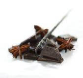 Schokolade und Vanille lizenzfreie stockbilder