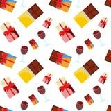 Schokolade und Wein Stockbilder
