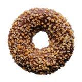 Schokolade und zerquetschter nuts Donut Stockfoto