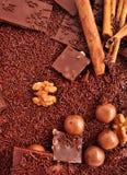Schokolade und Zimt Stockbilder