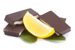 Schokolade und Zitrone lizenzfreies stockbild