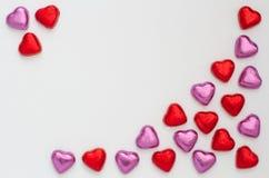 Schokolade Valentine Hearts Lizenzfreie Stockfotos