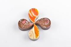 Schokolade Yin Yang stockbilder