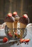 SchokoladeEiscreme Stockfotografie