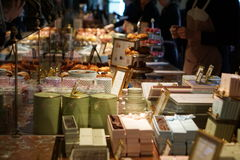 Schokoladen bei Laduree Lizenzfreie Stockfotos