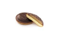Schokoladen-Biskuit stockfotos