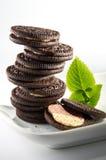 Schokoladen-Biskuit-Plätzchen Stockbild