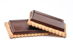 Schokoladen-Biskuite Lizenzfreies Stockbild