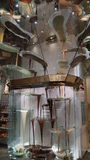 Schokoladen-Brunnen in Bellagio in Las Vegas lizenzfreies stockbild
