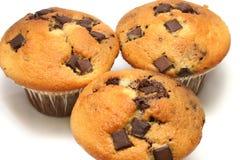 Schokoladen-Chip-Muffins Stockfoto