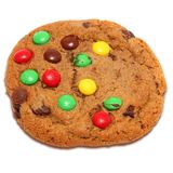 Schokoladen-Chip-Süßigkeit-Plätzchen lizenzfreies stockbild