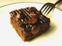 Schokoladen-Chip-Schokoladenkuchen lizenzfreie stockfotos