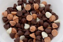 Schokoladen-Chips Stockbilder