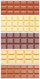 Schokoladen-Collage Stockfotos